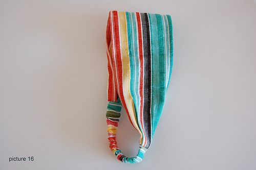 easy peasy headband tutorial.  i've made a bunch with scrap fabric, great for kids, too!