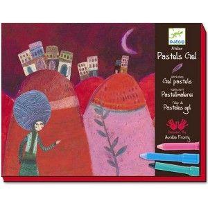 """ΖΩΓΡΑΦΙΚΗ ΜΕ ΛΑΔΟΜΠΟΓΙΕΣ """"AURELIA"""" Χειροτεχνία από τη γαλλική εταιρία Djeco. Μία σύνθετη εικαστική τεχνική με λαδομπογιές και κολάζ. Χρωματίστε τις σελίδες με διαφορετικά χρώματα και με το ειδικό εργαλείο ενώστε τα χρώματα για να βγει ένα εντυπωσιακό αποτέλεσμα. Ή ζωγραφίστε με ένα χρώμα περάστε από πάνω ένα δεύτερο χρώμα και με το ειδικό εργαλείο ξύστε και δημιουργήστε διχρωμίες. Κόψτε, κολλήστε και δημιουργήστε μια εντυπωσιακή εικόνα. Περιέχει 9 φύλλα για το κολάζ τεσσάρων διαφορετικών…"""