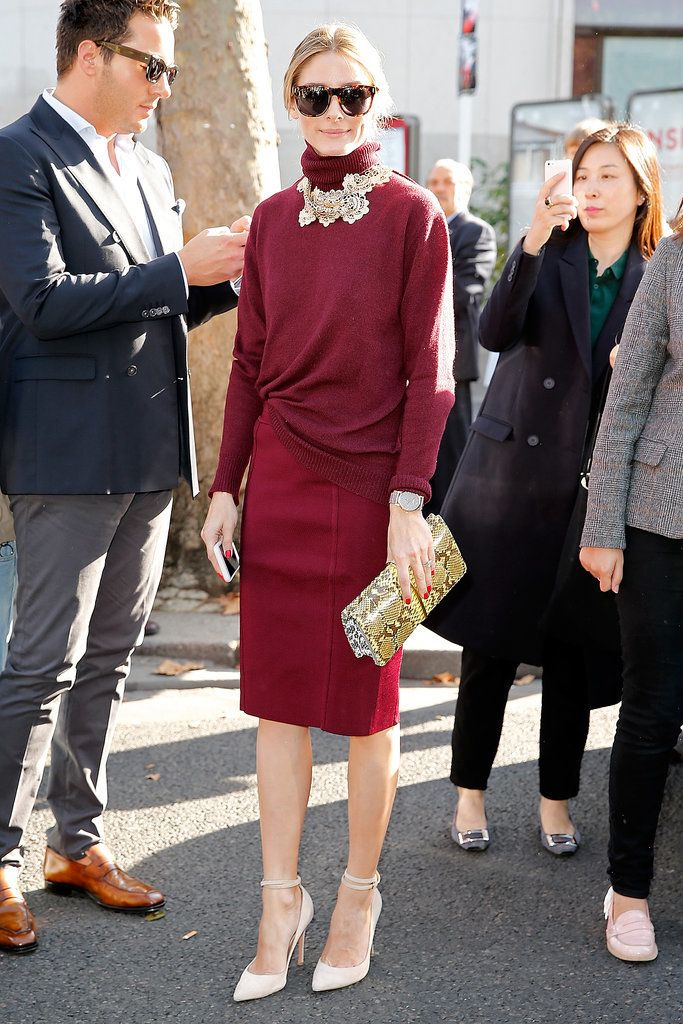 2015's Pantone Color of the Year is superwearable — as demonstrated by Olivia Palermo
