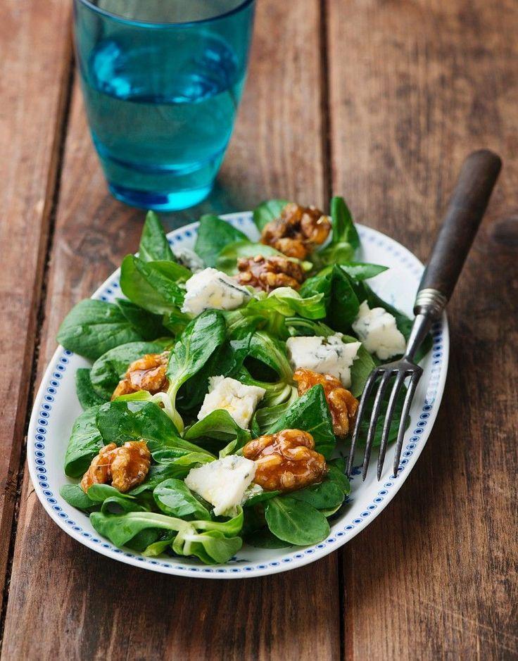 Herbstlicher Feldsalat mit Gorgonzola