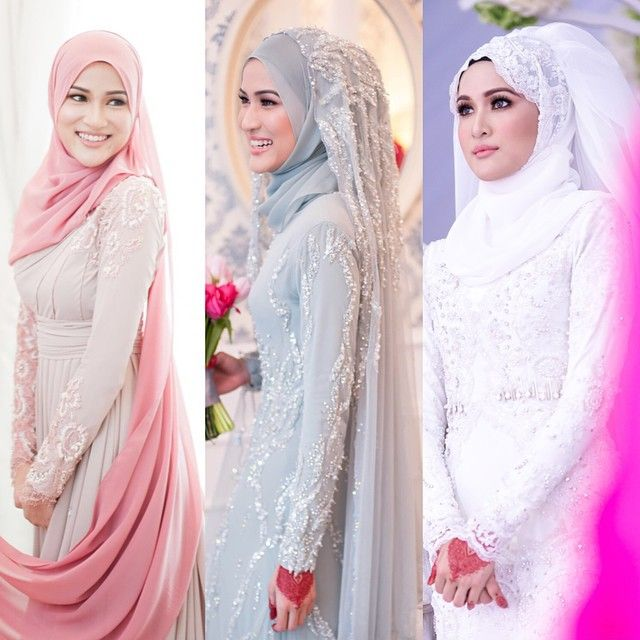Glam squad for all my big days; engagement, solemnization & wedding reception. I thank you for being there with me from the start of my career & I could not have chosen a better team.  Left: Dress & styling by @mimpi_kita . Make up by @adyrazak .  Middle: Dress & styling by @zeryzamry . Make up by @tiarzainal .  Right: Dress & styling by @mimpi_kita . Make up by @kasihcicie .  #WalimatulurusHanisHairul