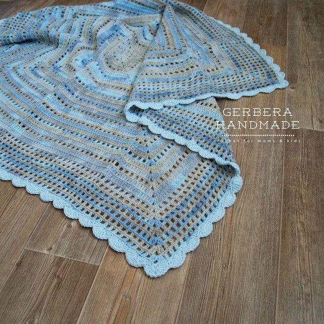 Crochet baby blanket & nursing necklace www.gerberahandmade.com