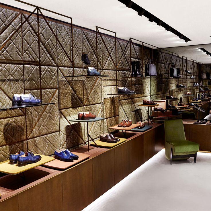 Madison Avenue boutique - New York. Design by Patricia Urquiola #santoni #Madisonavenue  #NYC
