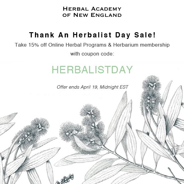94 best herbal academy coupons our favorites images on pinterest herbalist day coupon 15 off herbal academy programs fandeluxe Images