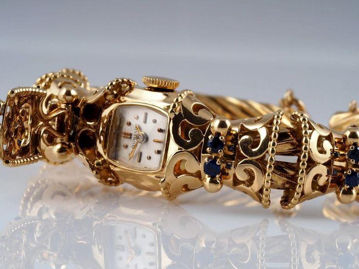 GÜBELIN DAMEN SPANGEN UHR mit SAPHIREN / 750 GOLD / TAXATION von BUCHERER in Uhren & Schmuck, Armband- & Taschenuhren, Armbanduhren | eBay!