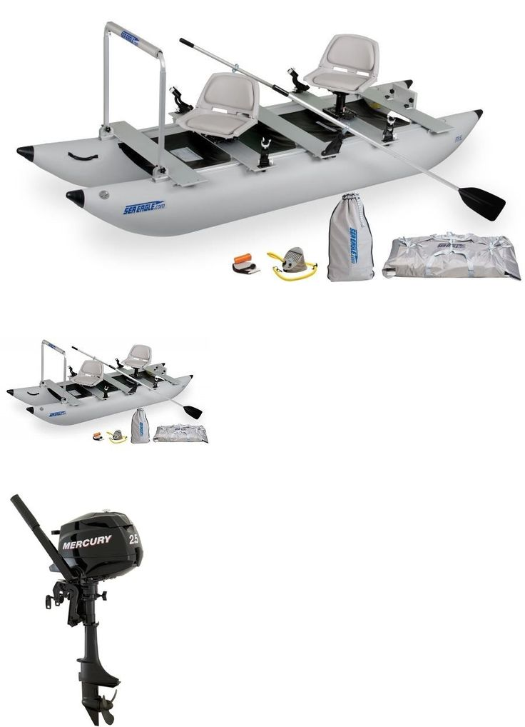 boats: New Sea Eagle 12-Foot 4-In Foldcat Inflatable Boat With New 2.5 Hp Mercury Motor -> BUY IT NOW ONLY: $1995 on eBay!