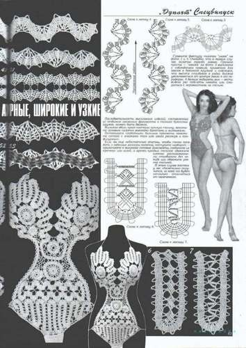 Bikini Bra Panties Short Swimsuit Crochet Patterns Book Magazine Special Duplet