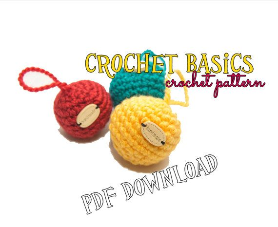 Crochet PATTERN - how to crochet a ball - basics, pattern & video tutorial link, basic crochet skills, all you need to know, crochet pattern