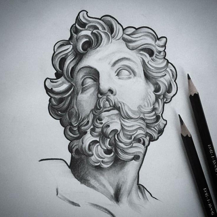 Art sketch statue