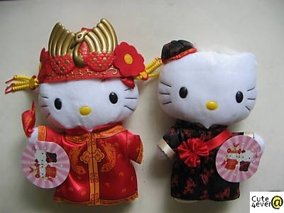 New HELLO KITTY Dolls in Chinese Wedding Costumes