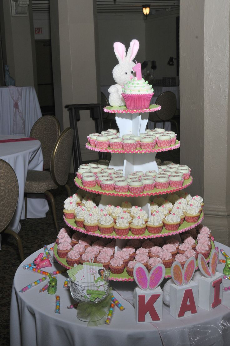 Bunny 1st Birthday: http://www.thesmartbaker.com/5-tier-round-cupcake-tower/