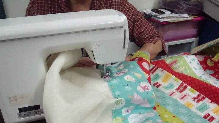 """How to """"quilt as you go""""! OMG!!!!! This makes for a quick and easy strip quilt!!! Love it! Lisa"""