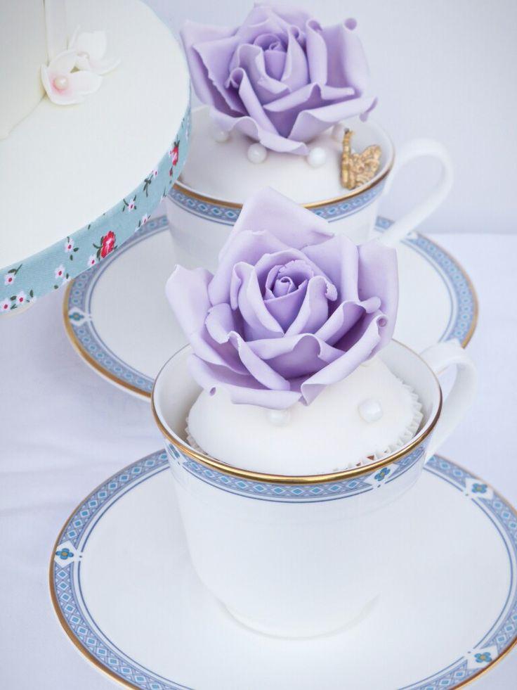 Rose tea cup cupcakes