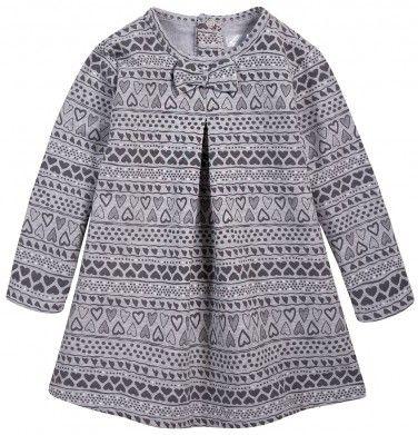 Ubranka dla niemowlaka: http://endo.pl/dla-niemowlaka Endo ubranka dla dzieci  Melanżowa sukienka we wzorzysty deseń dla niemowlaka N52H001_1