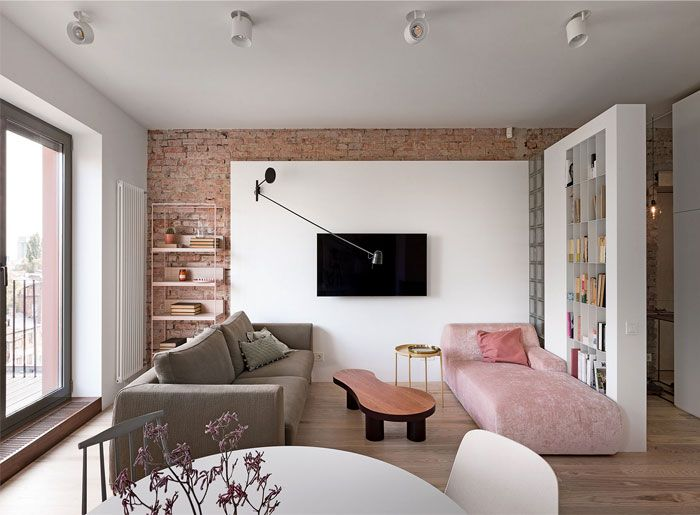 Small Urban Chic Apartment By Olha Wood Appartement Design