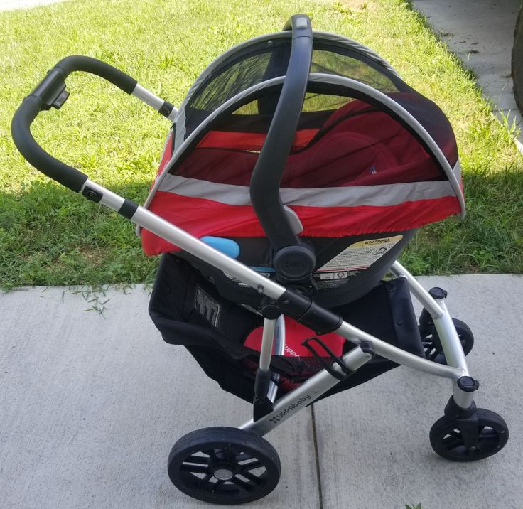 Uppababy Vista. No stroller seat. Frame, red cabana with