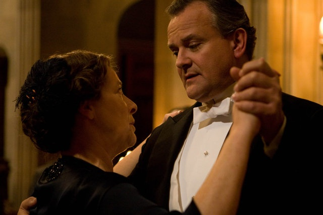 Mrs. Hughes and Lord Grantham