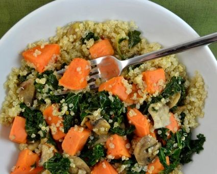 Quinoa with Sweet Potatoes and Kale Recipe | The Daily Meal