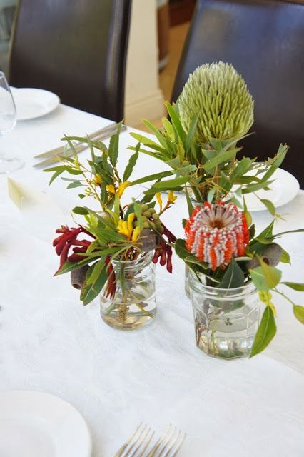Small bar table flower decorations