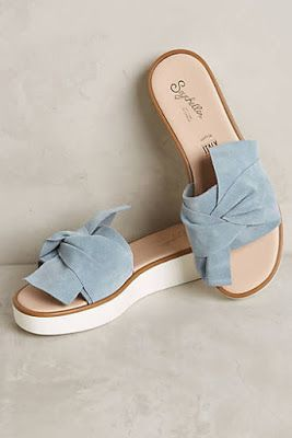 Slides with a little extra flair. Dusty blue never looked so good! Take it one step further with Snapandstyle.com You can find them at Anthropologie :)