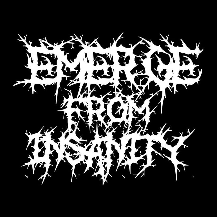 Emerge From Insanity logo.  Deathmetal/deathcore style. Inspired by Chelsea Grin, As Blood Runs Black, The Black Dahlia Murder. Made by using the liquefy tool on Adobe Photoshop CS6 Extended.