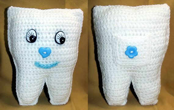 Crochet Tooth Fairy Pillows by HazelCrochet on Etsy