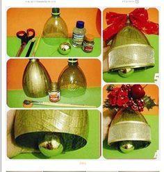 vanoční zvon z plastový lahve