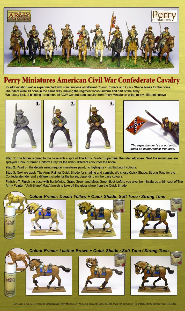 Painting miniatures color master primer - The Army Painter Perry Miniatures Acw Confederate Cavalry