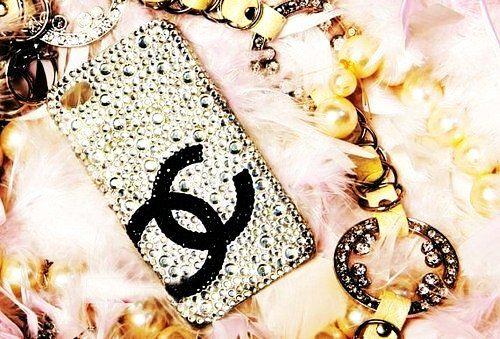 Crystal GlitteriPhone5/4S/4Case - Chanel GlitteriPhone5 Case