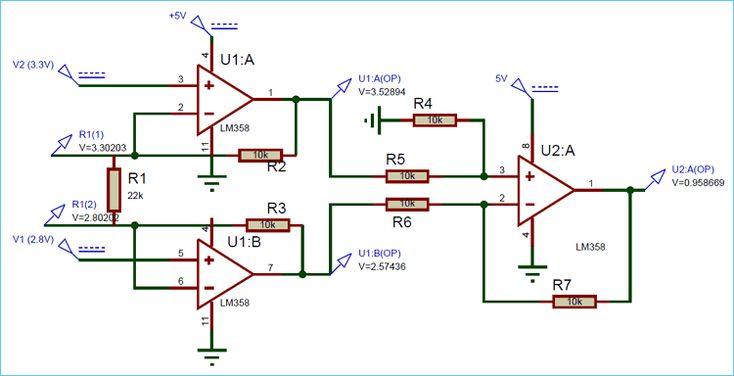 Instrumentation Amplifier Circuit Using Op Amp Circuit Amplifier Electronics Circuit