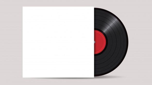 Vinyl Record With Cover Mockup Premium V Premium Vector Freepik Vector Mockup Vinyl Records Vinyl Graphic Design Mockup