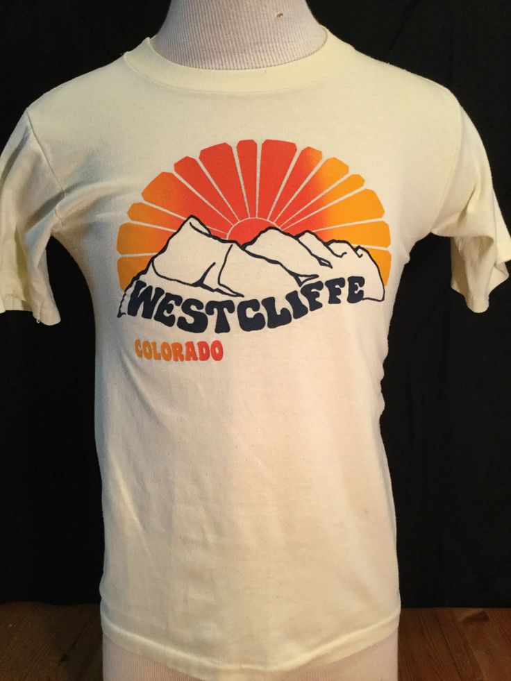 Vintage 1980's Western Mountains T-Shirt 50/50  Thin Soft by 413productions on Etsy