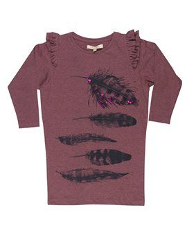 SOFT GALLERY  Girls Mauve Feather Print Jersey Dress  from €63,00 now  €31,50