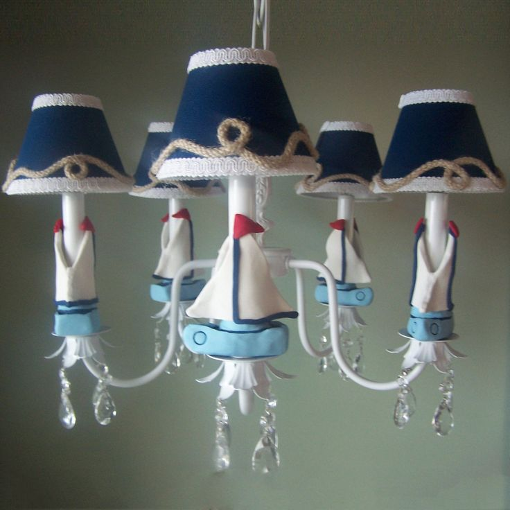 Silly Bear Lighting TC18 Nautical Sailboats Chandelier Kids Ceiling Light Lighting Universe