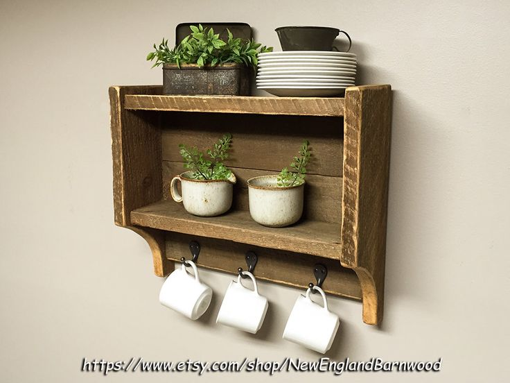 A personal favorite from my Etsy shop https://www.etsy.com/listing/469814389/rustic-kitchen-shelf-kitchen-spice-rack