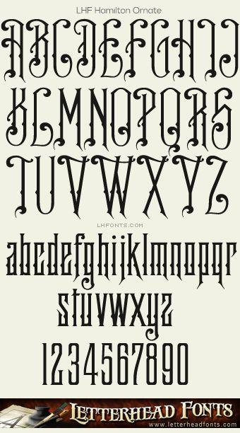 Letterhead Fonts / LHF Hamilton Ornate font / Decorative Fonts