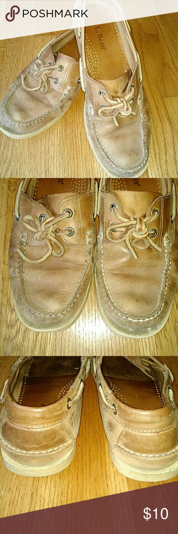 LL Bean Topsiders LL Bean Topsiders. Mens size 9.5 Well used but still plenty of life left in them. L.L. Bean Shoes Boat Shoes