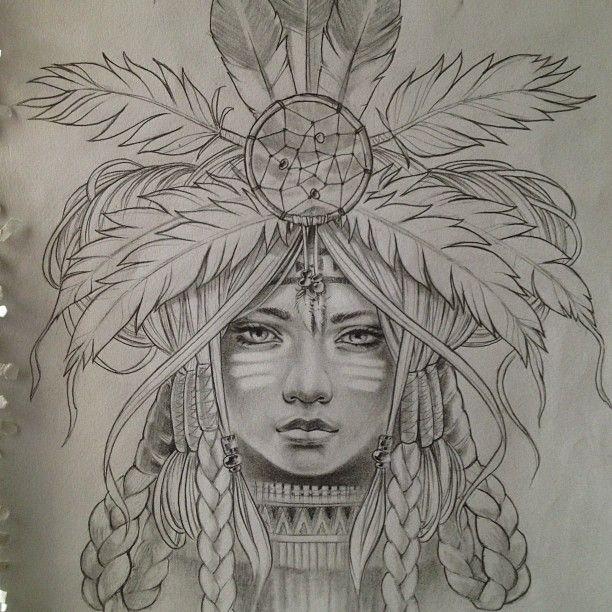 native american girl drawing - Buscar con Google