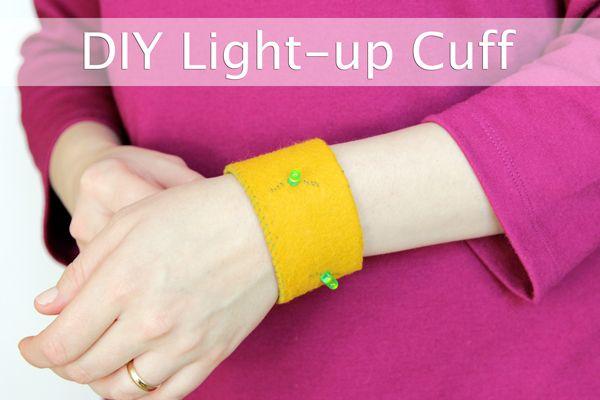DIY Light-up Cuff Bracelet at Hands Occupied