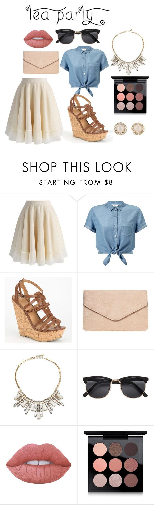 """""""Summer Times"""" by blackmagic24101 on Polyvore featuring Chicwish, Miss Selfridge, Delicious, Dorothy Perkins, ABS by Allen Schwartz, Lime Crime, MAC Cosmetics, Kate Spade and teaparty"""