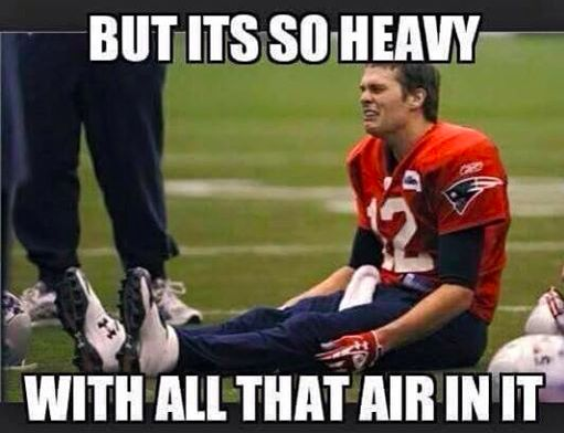 The internet came out in full force with these Deflategate memes. I'm a little out of breath from laughter - anyone have some air I could use?