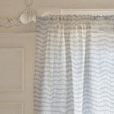 """Division"" - Abstract, Hand Drawn Curtains in Mist by Katie Jarman."