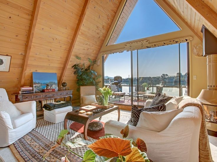 Temple of Light | An a-frame floating home in Sausalito, CA. (pinned by haw-creek.com)