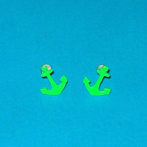 Neon Anchor Studs - More Colours! - Mookie Designs