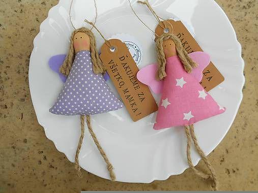 Textilné anjeliky s visačkou, na ktorú si môžte napísať svoje poďakovanie, alebo Vám ho napečiatkujem:)) Super vhodné aj ako darček pre družičky alebo dievčatká na svadbe - ako menovky... T...
