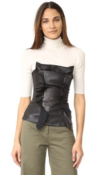 Marissa Webb Gloria Stretch Leather Strapless Top | SHOPBOP