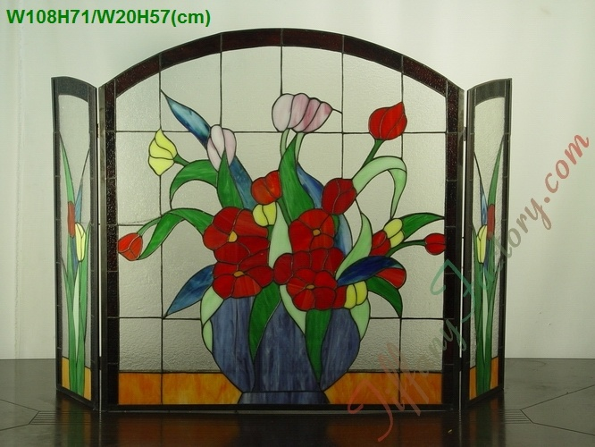 Top 201 ideas about antique screens glass panels on pinterest stained glass fireplace screen - Amazing stained glass fireplace screen designs with intriguing patterns ...