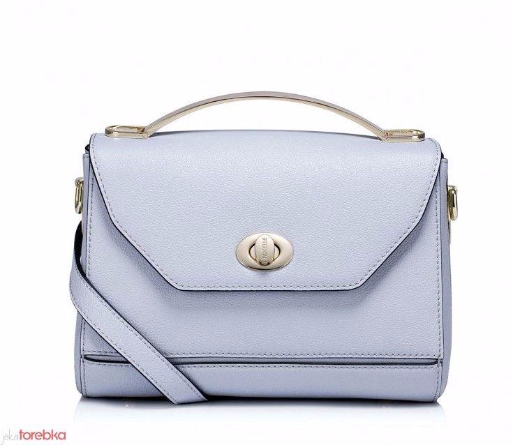 Niewielka prostokątna torebka Niebieska