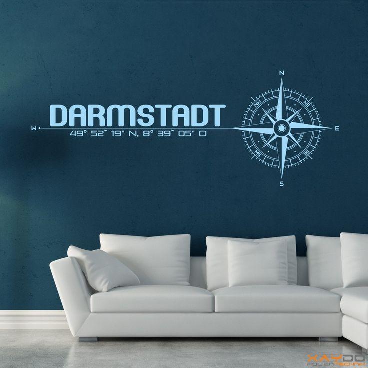 "Wandtattoo ""Stadt Darmstadt"" - ab 19,95 € | Xaydo Folientechnik"