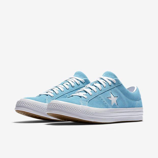 converse one star bleu pastel